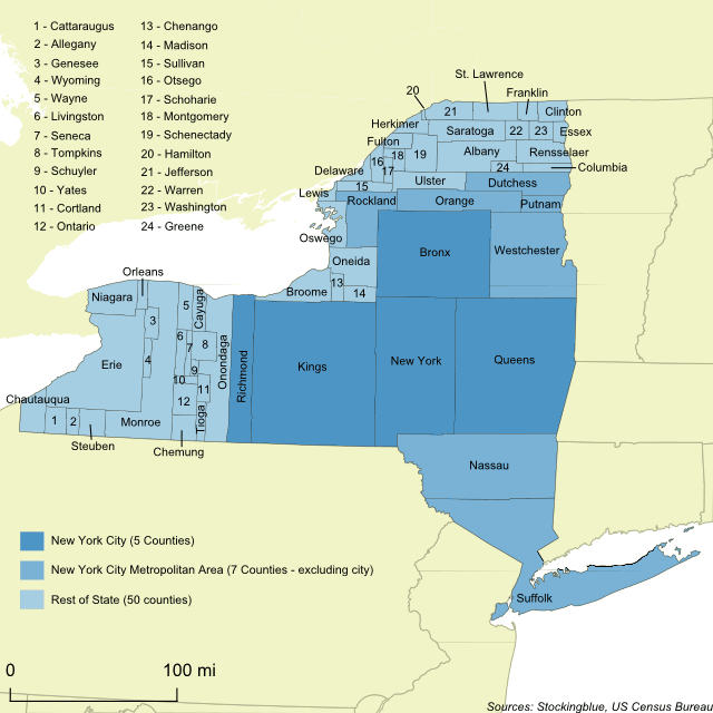 Population of New York State